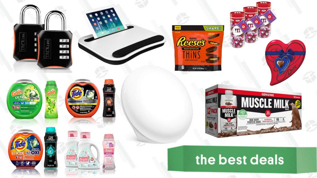 Valentine's Day Chocolate, Muscle Milk, Light Therapy Lamps, and More