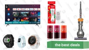70-inch Hisense Android TV, Dyson Ball Upright Vacuum, Garmin GPS Devices, Kiehl's Ultra Skincare Duo, Etude House Water Tint, and More