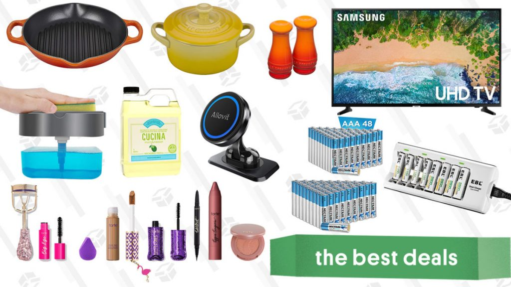 Tarte Cosmetics Sale, Samsung 50-Inch 4K Smart TV, Le Creuset Stoneware, Rechargeable Batteries, Dishwashing Supplies, and More