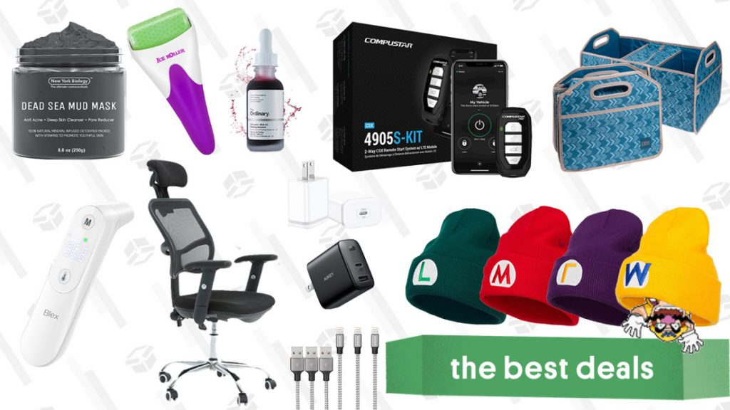 Compustar 2-Way Remote Start System, USB C Fast Chargers, Trunk Organizer & Cooler Combos, Office Rolling Chair, Skincare Tools & Products, Infrared Thermometer, and More