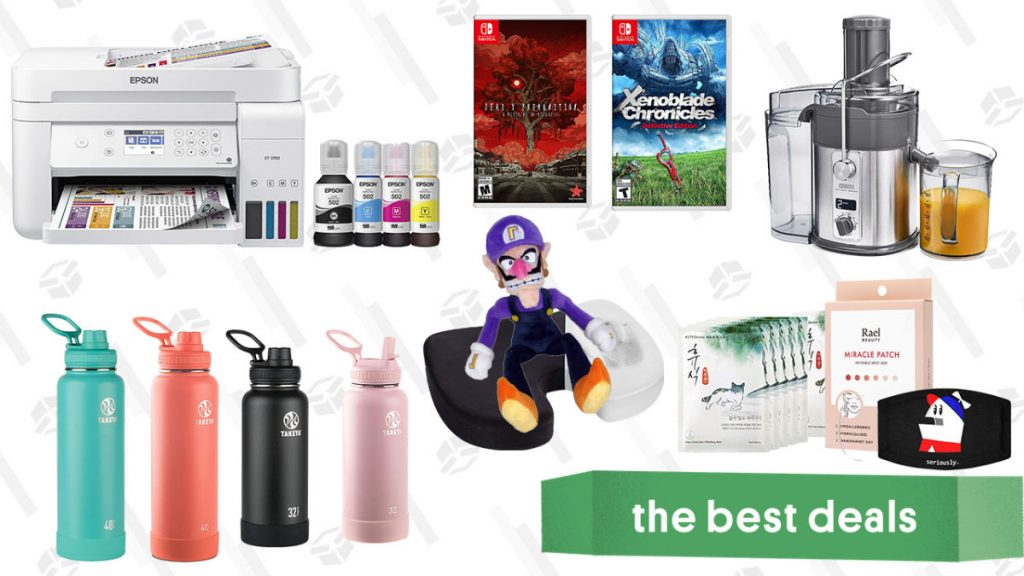 Epson EcoTank Inkjet Printers, Deadly Premonition 2, Xenoblade Chronicles Definitive Edition, Crux Artisan Juicer, Takeya Water Bottles, K-Beauty Skincare, and More
