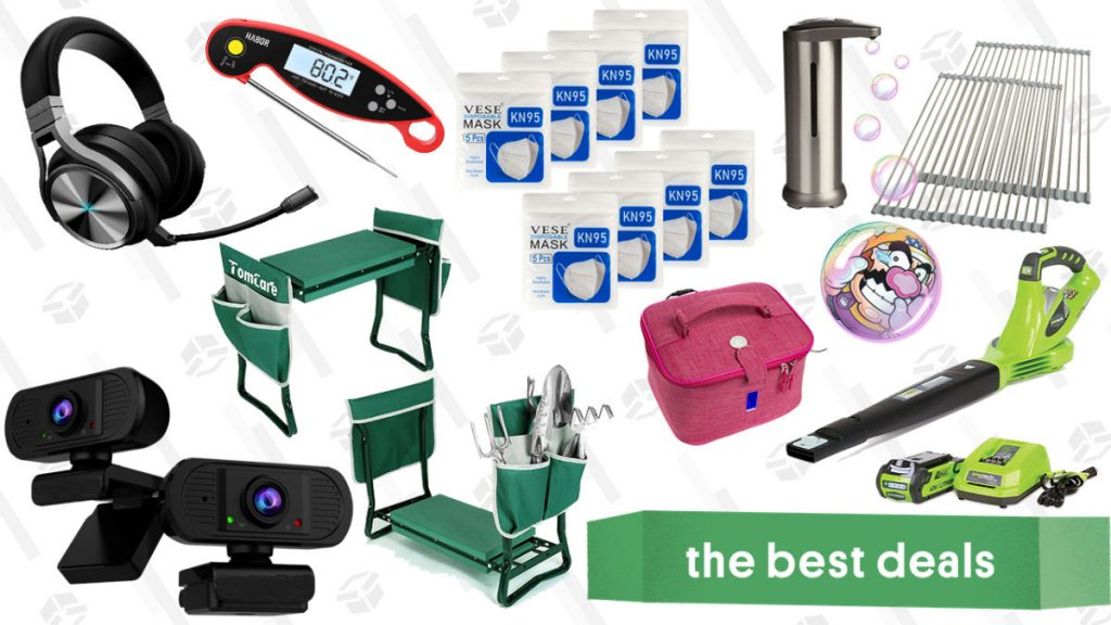 Greenworks Outdoor Power Tools, Corsair Virtuoso Headset, 2-Pack 1080P Webcams, Kitchen Essentials, Garden Seat & Kneeler, and More