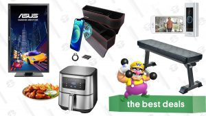 """Ring Video Doorbell Pro, Asus 27"""" Gaming Monitor, Car Seat Gap Fillers, Workout Bench, Digital Air Fryer, and More"""
