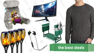 Reading Pillows, Westinghouse Curved Gaming Monitor, JACHS NY Sweaters, TomCare Outdoor Accessories, and More